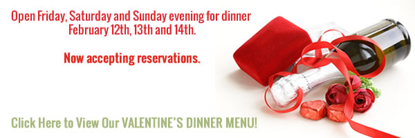 Click to view our Valentine's Dinner menu